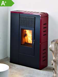 Pelletofen MCZ FLAT Comfort Air Bordeaux
